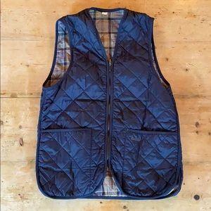 Barbour Quilted Vest/Zip-in Liner